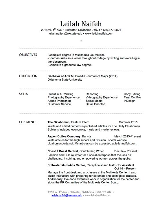 Resume | Leilah Naifeh